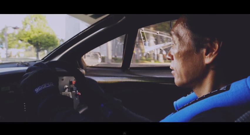 Porsche 962C street version driver Le Mans' Luke Huxham