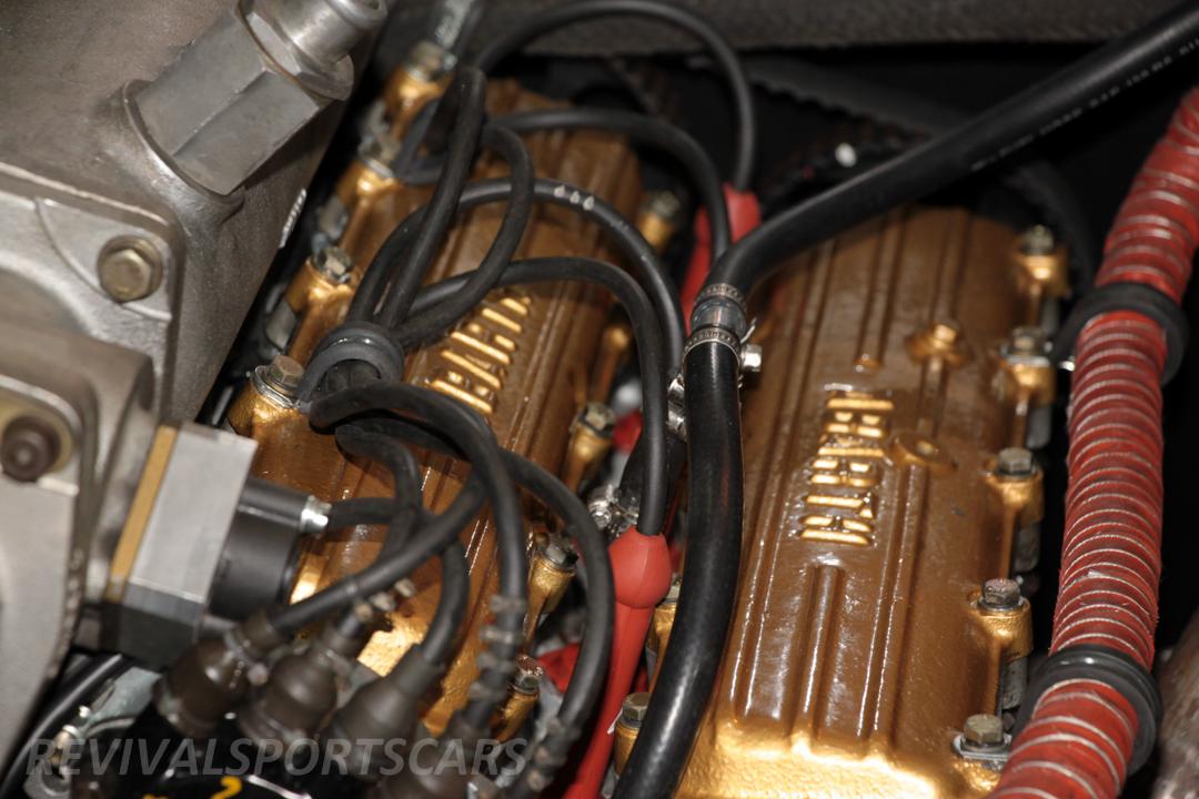Race Retro 2014 Classic Motorsport 1988 Lancia  037 Rally car engine block