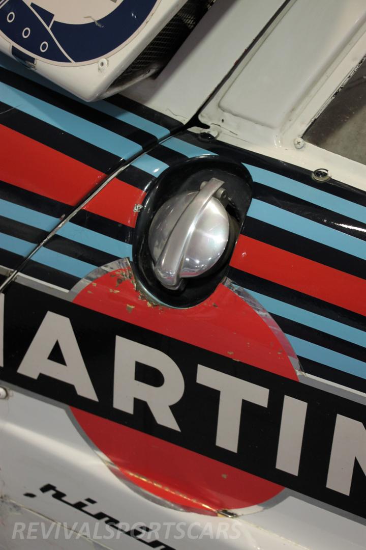 Race Retro 2014 Classic Motorsport 1988 Lancia  037 Rally car fuel filler