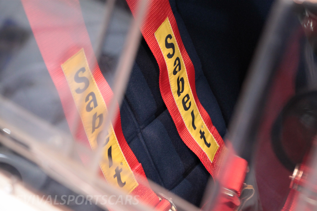 Race Retro 2014 Classic Motorsport 1988 Lancia  037 Rally car seats sabelt