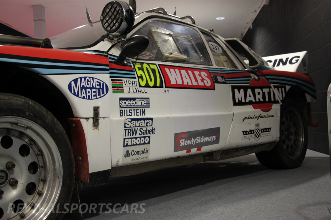 Race Retro 2014 Classic Motorsport 1988 Lancia  037 Rally car side view