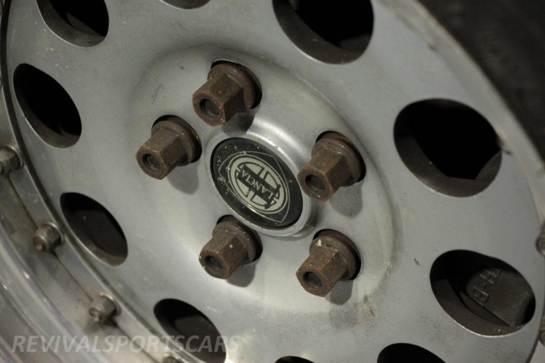Race Retro 2014 Classic Motorsport 1988 Lancia  037 Rally car wheel closeup