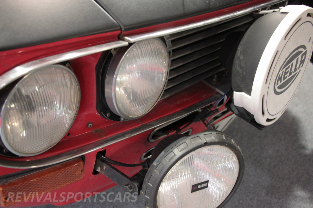 Race Retro 2014 Classic Motorsport 1988 Lancia Fulvia Rally car front grill