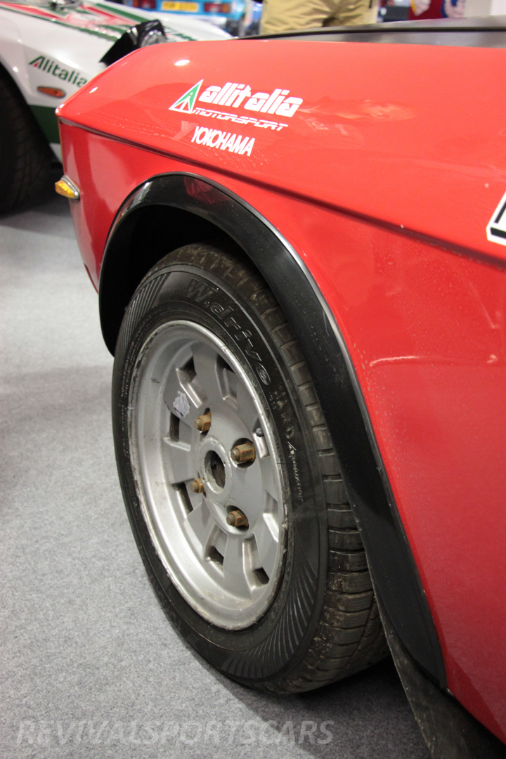 Race Retro 2014 Classic Motorsport 1988 Lancia Fulvia Rally car front wheel arch