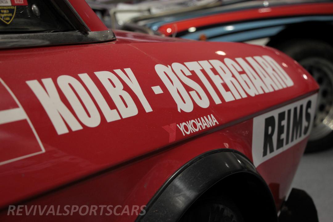 Race Retro 2014 Classic Motorsport 1988 Lancia Fulvia Rally car rear arch logos