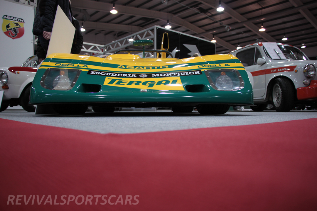 Race Retro 2014 Classic Motorsport Abarth Racing Car low ride height