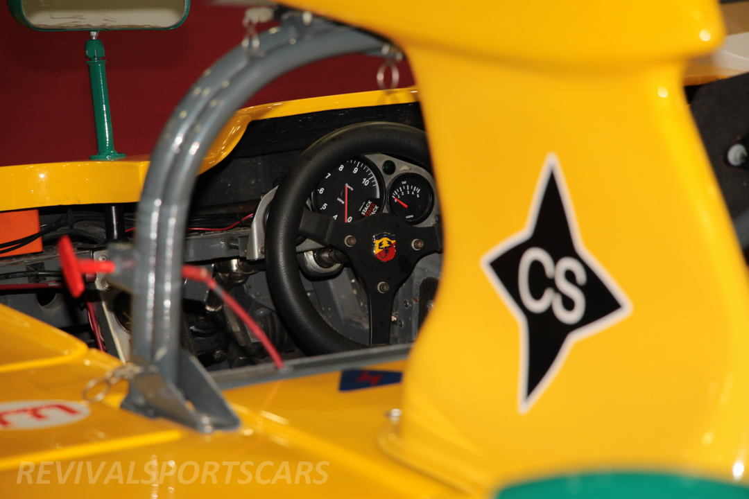 Race Retro 2014 Classic Motorsport Abarth Racing Car view to cockpit