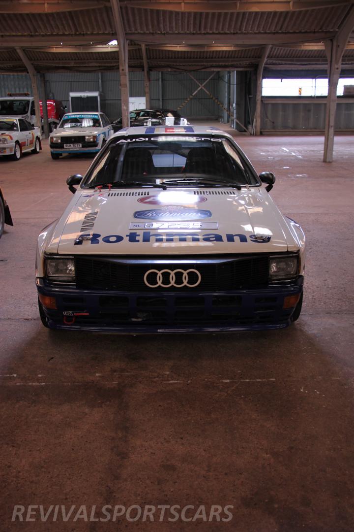 Race Retro 2014 Classic Motorsport Audi Quattro UR rally car front grill