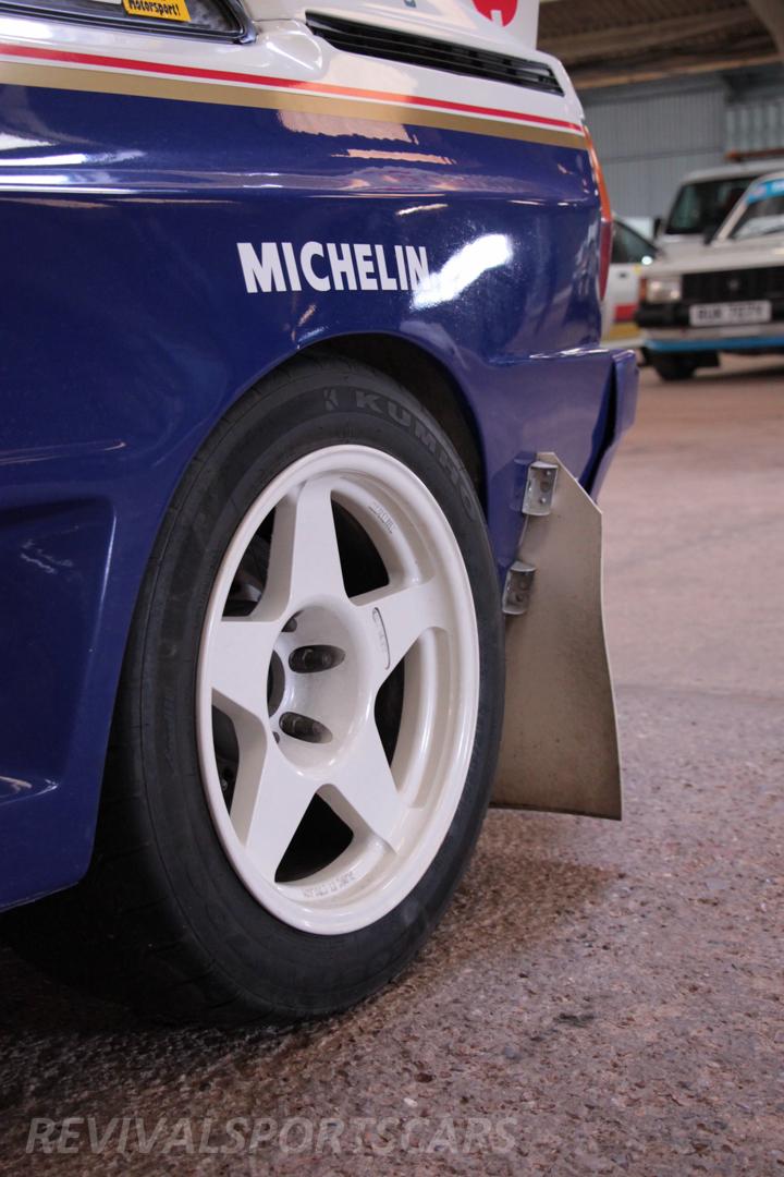 Race Retro 2014 Classic Motorsport Audi Quattro UR rally car rear wheel