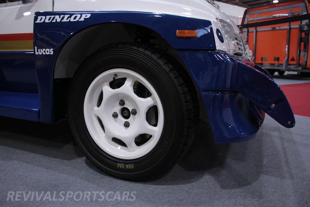 Race Retro 2014 Classic Motorsport Austin Metro 6R4 Rally car front spoiler closeup