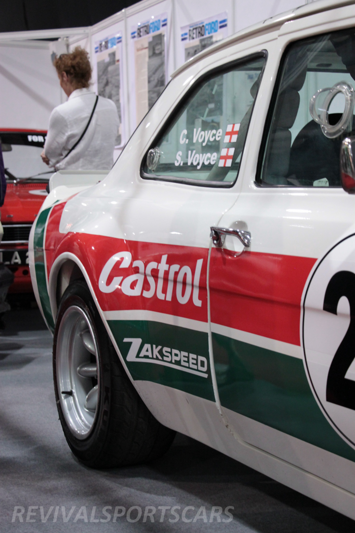 Race Retro 2014 Classic Motorsport Ford Escort rear arch