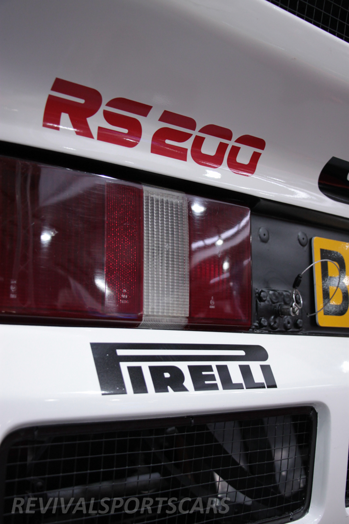 Race Retro 2014 Classic Motorsport Ford RS200 rally car rear lights bumper