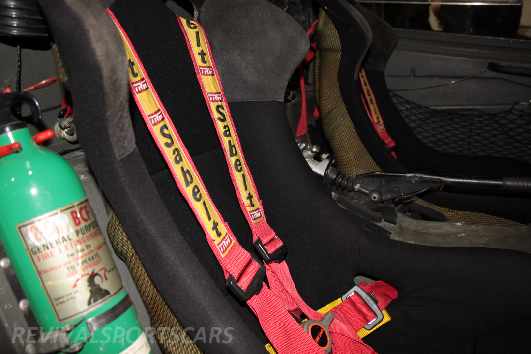 Race Retro 2014 Classic Motorsport Ford RS200 rally car seats