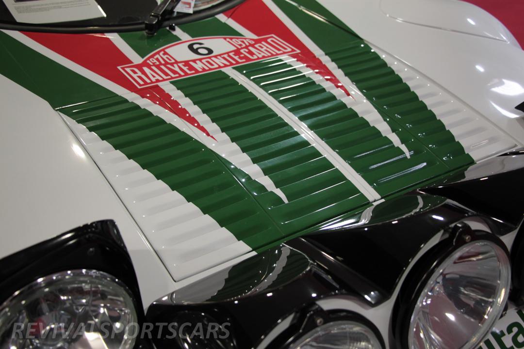 Race Retro 2014 Classic Motorsport Lancia Stratos Race car bonnet vents