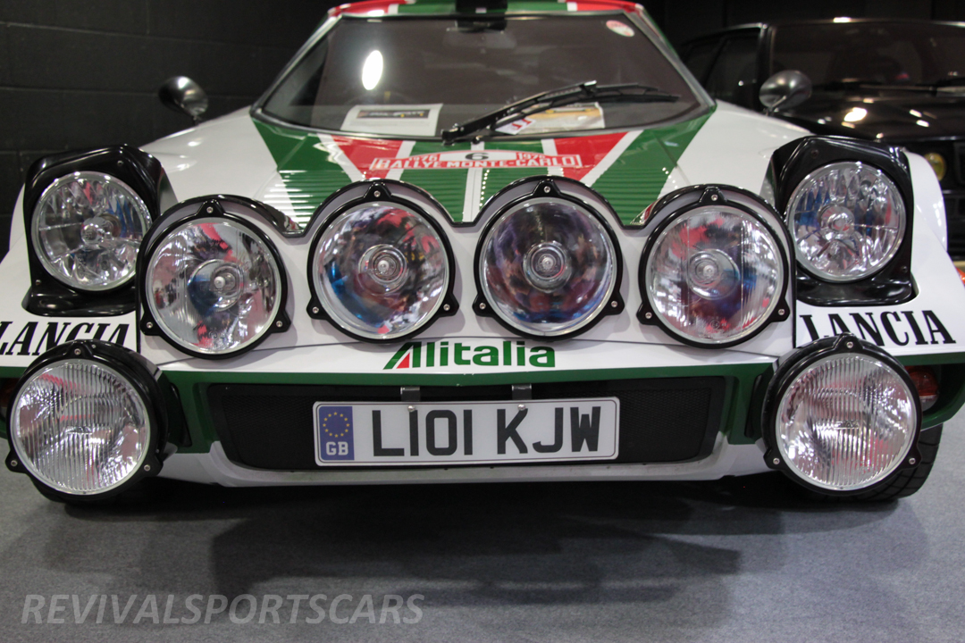 Race Retro 2014 Classic Motorsport Lancia Stratos Race car front lights