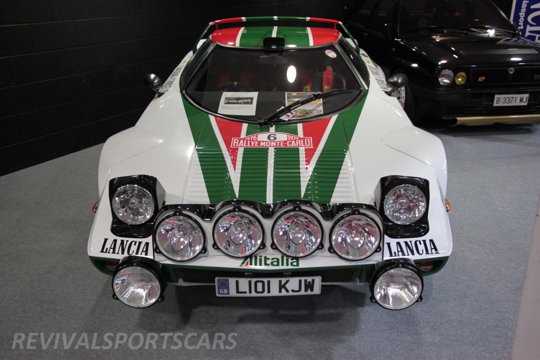 Race Retro 2014 Classic Motorsport Lancia Stratos Race car view front top