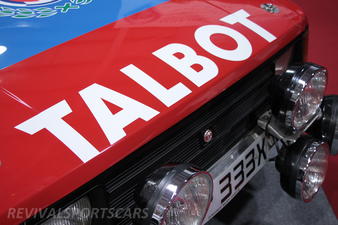 Race Retro 2014 Classic Motorsport Talbot Sunbeam Rally Car front grill