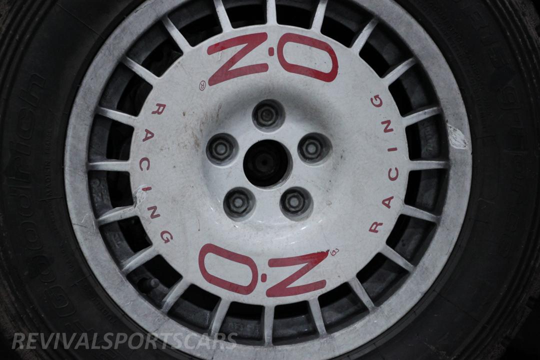 Race Retro 2014 Classic Motorsport Toyota Celica GT4 ST185 rally car malboro OZ racing wheel closeup