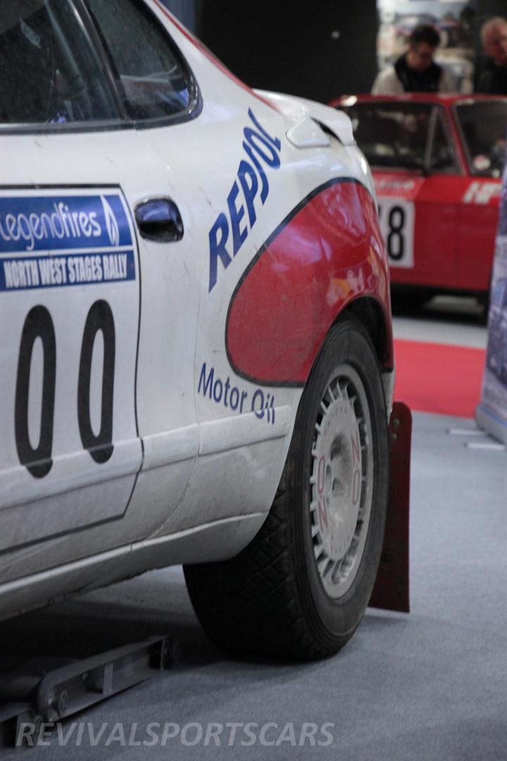 Race Retro 2014 Classic Motorsport Toyota Celica GT4 ST185 rally car malboro rear side