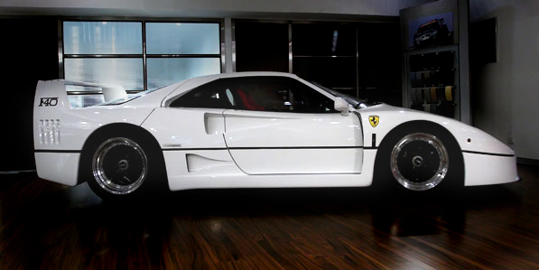 Ferrari F40 White Profile Revival Sports Cars Limited